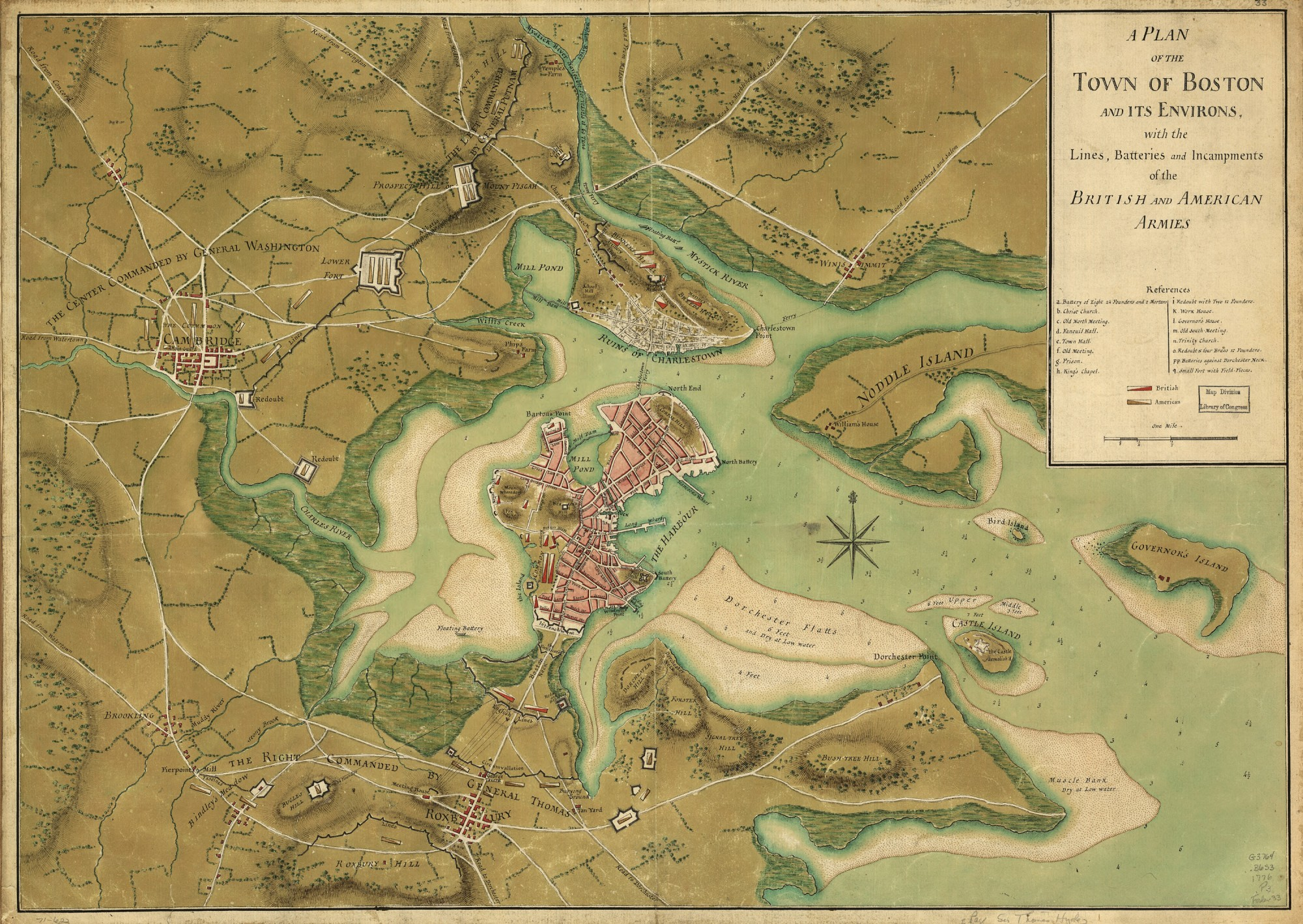 Siege Of Boston George Washingtons Mount Vernon - Map of us after revolutionary war