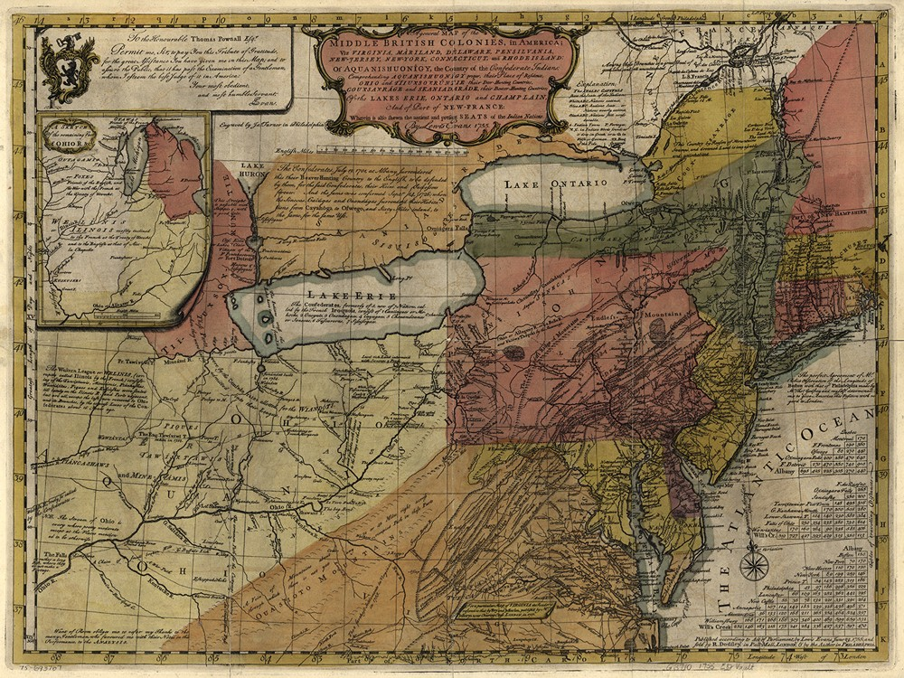 General Map Of The Middle British Colonies In 1755 George Washington S Mount Vernon
