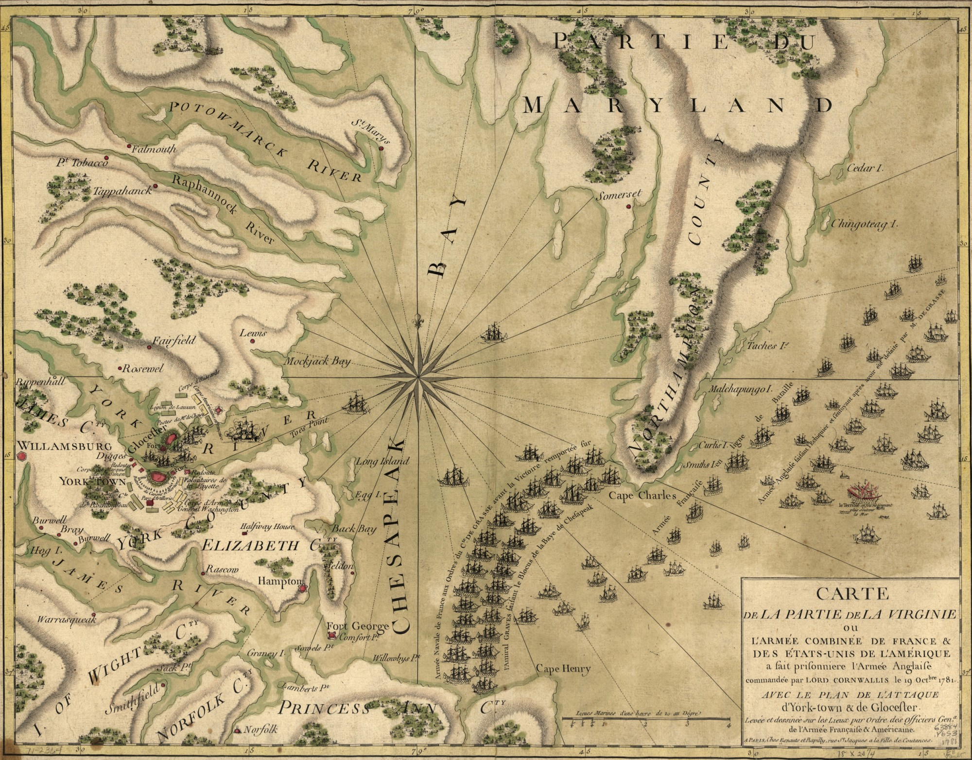 The Yorktown Campaign George Washingtons Mount Vernon - Map of us 1781