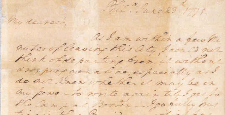 A Love Letter From General Washington George Washington