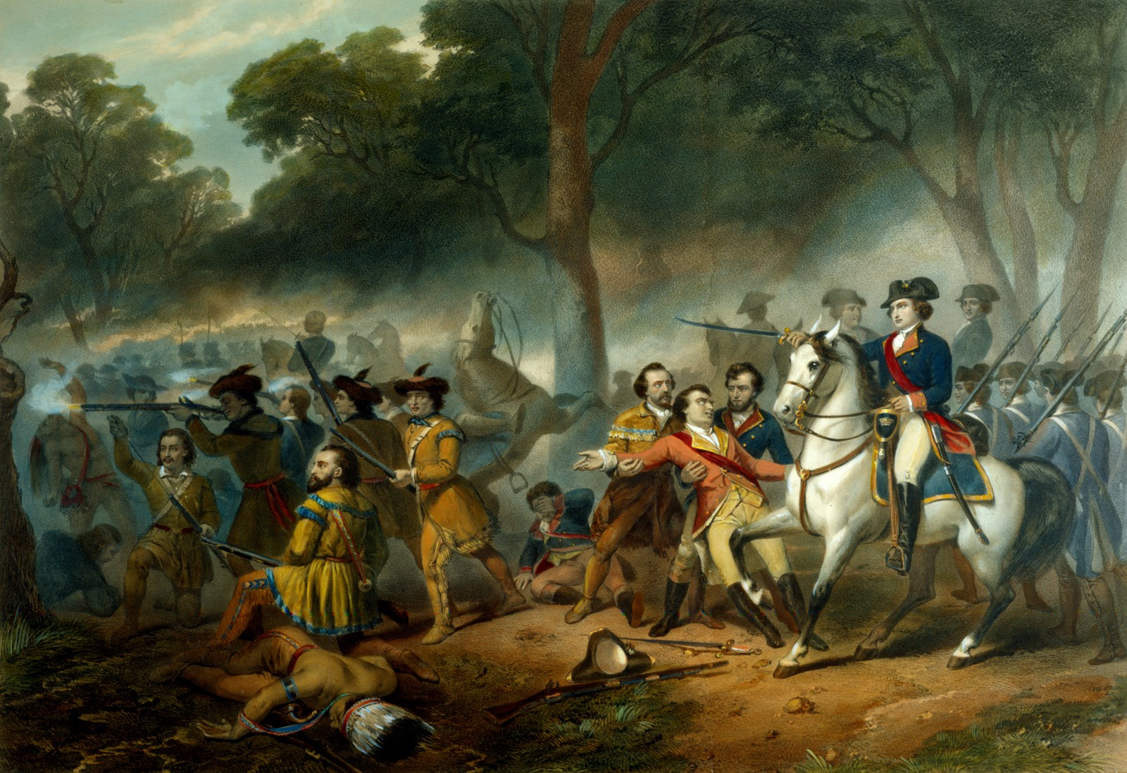 george washington middot george washington s mount vernon washington the ier battle of the monongahela 9 1755