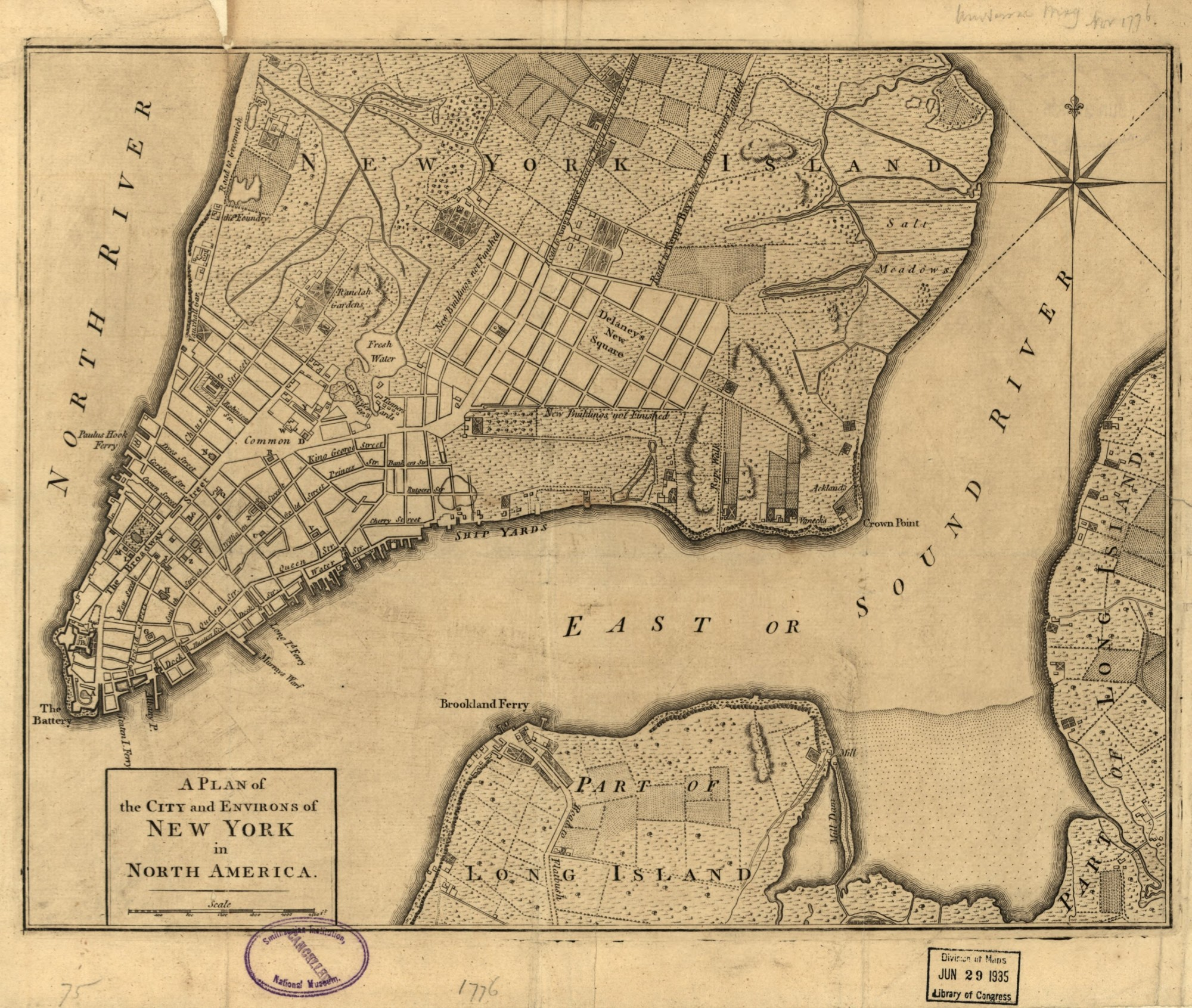 Brooklyn On Line Brooklyn History The Battle Of Brooklyn Great - Map of us in 1776
