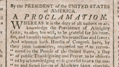 Encyclopedia: The 1789 Thanksgiving Proclamation