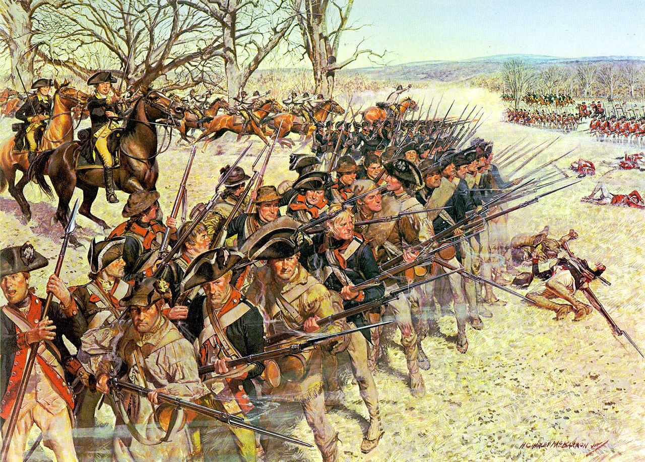 Continental Army soldiers defended the final position at the Battle of Guilford Courthouse covering the retreat of the American militia and dealing the British a costly victory. Courtesy United States Army Center of Military History.