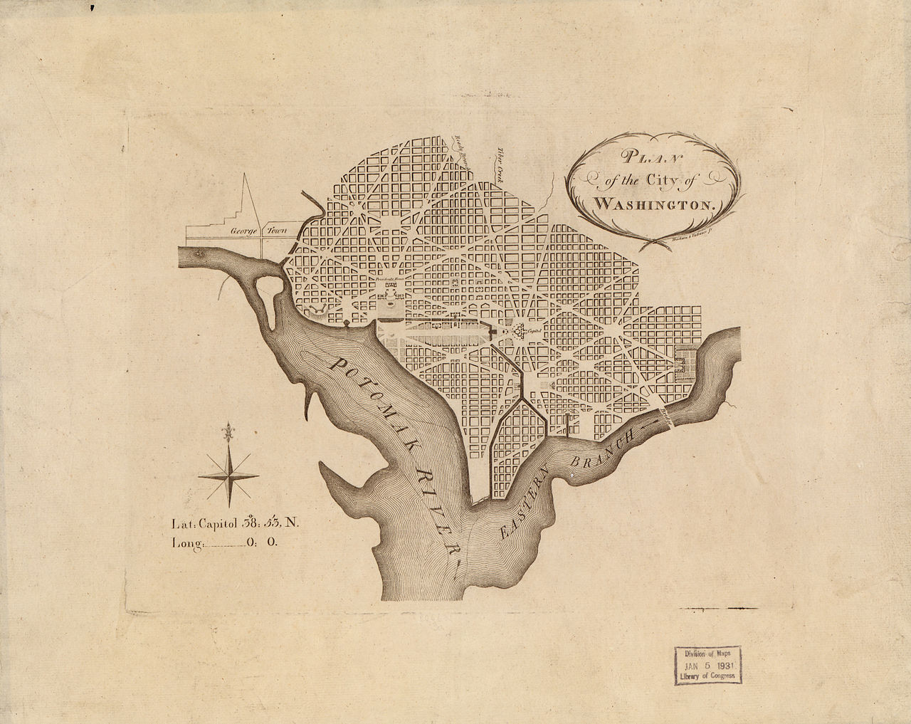 Pierre LEnfant  George Washingtons Mount Vernon - Washington dc map of sites