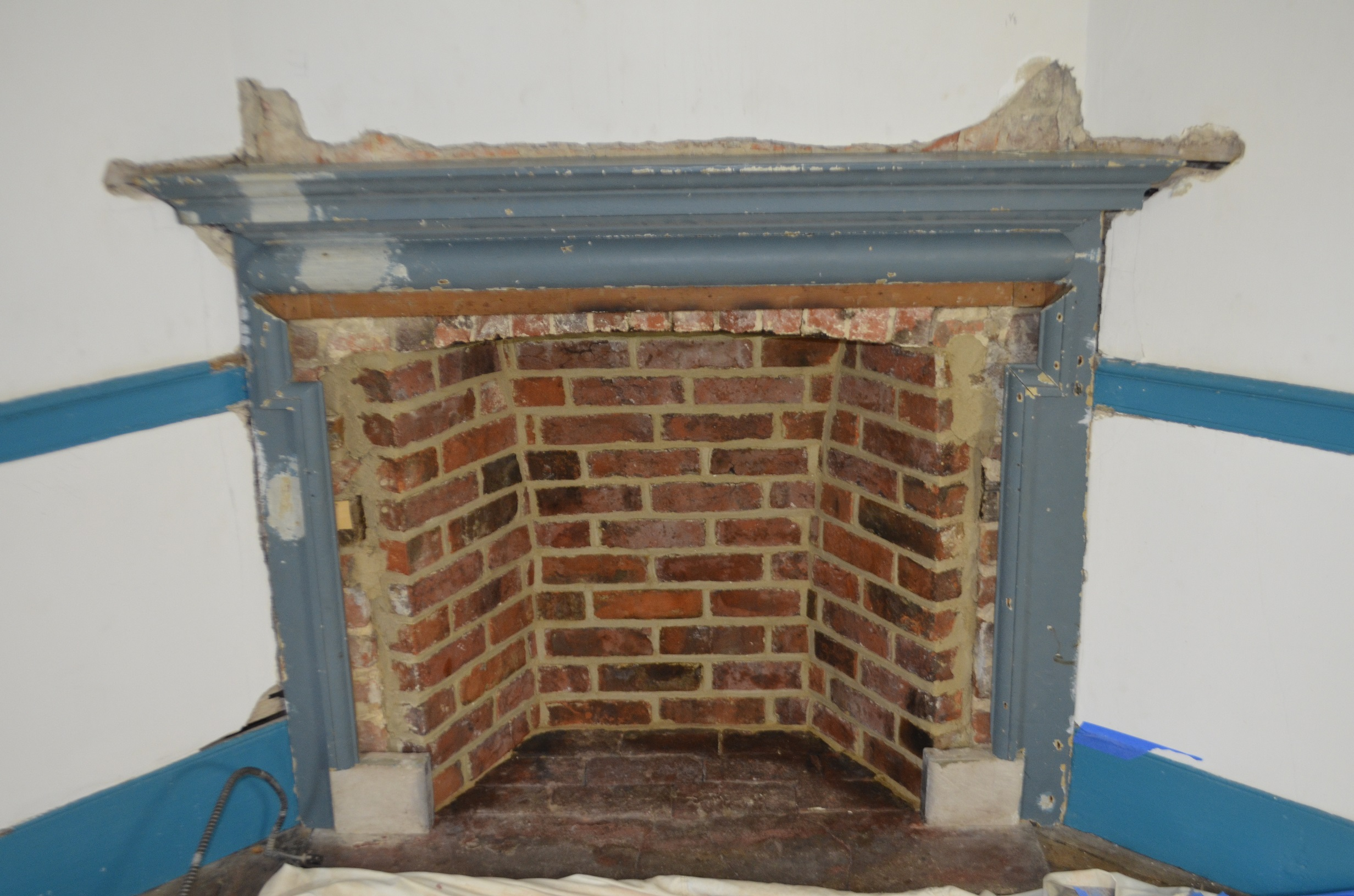 18th-century mantel after reinstallation.