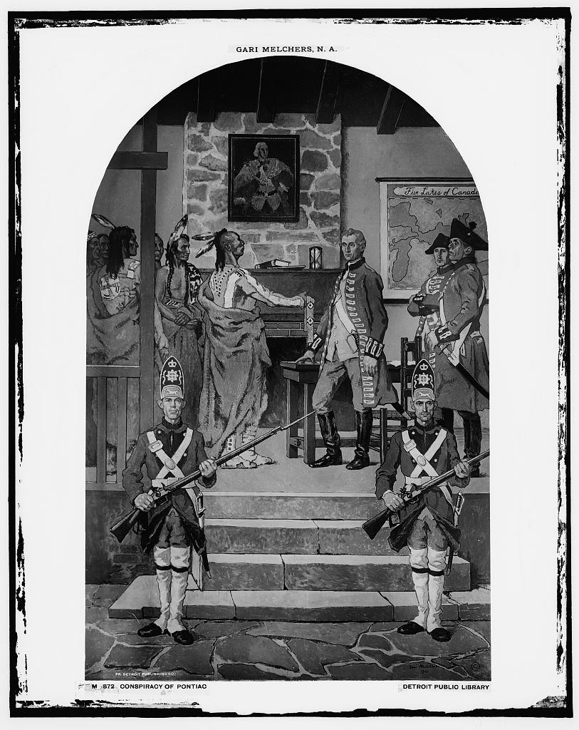 Conspiracy of Pontiac, by Gari Melchers, 1921. Courtesy the Library of Congress [LC-D416-872].