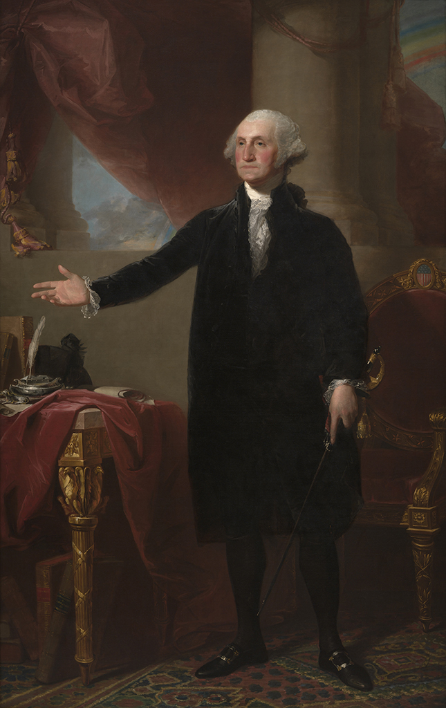 George Washington (1732-1799), the Lansdowne Portrait, by Gilbert Stuart, National Portrait Gallery
