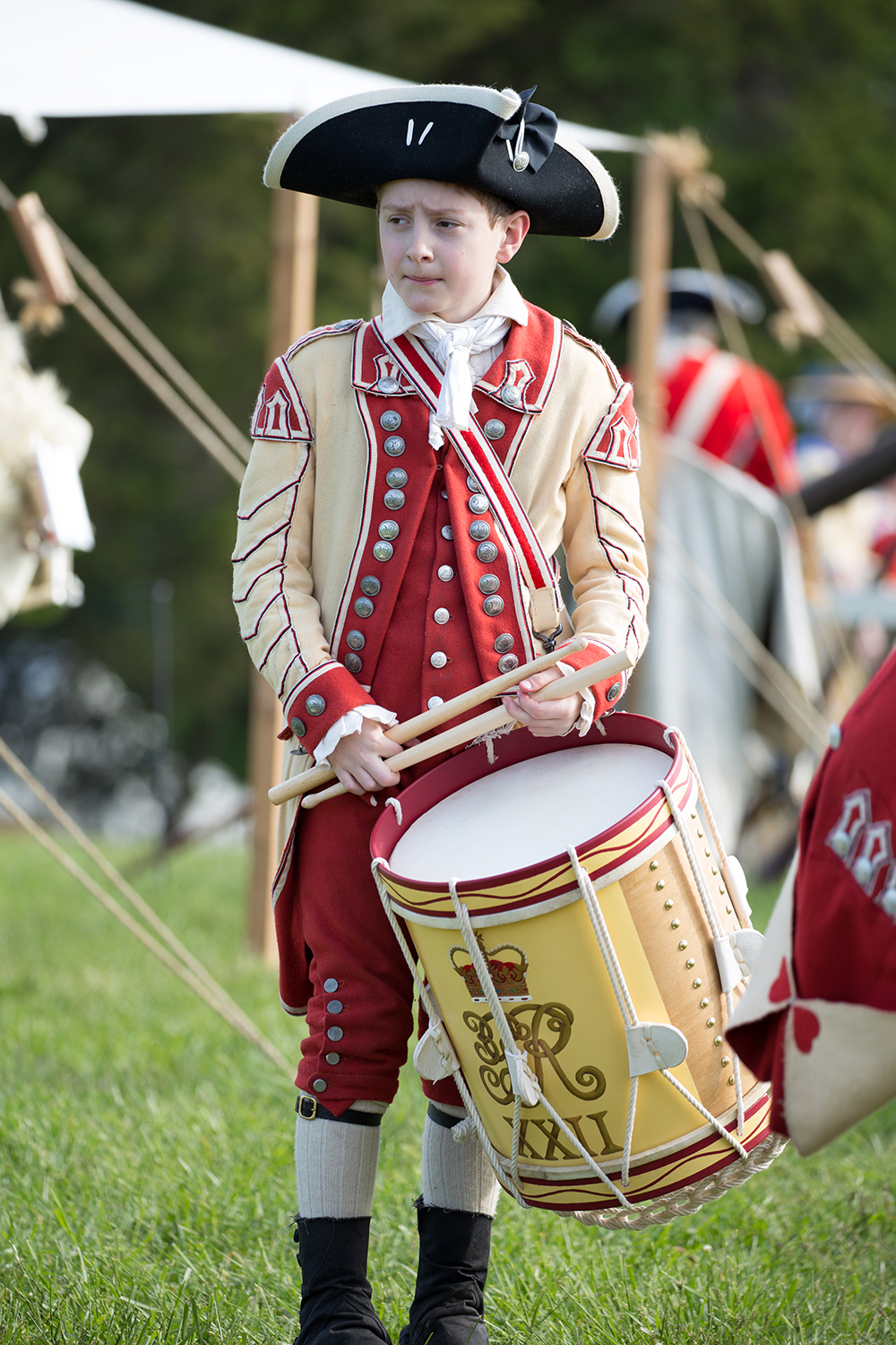 Who were the fifers and drummers? They were often young boys, whose fathers were soldiers, or older men, who were no longer of fighting age.