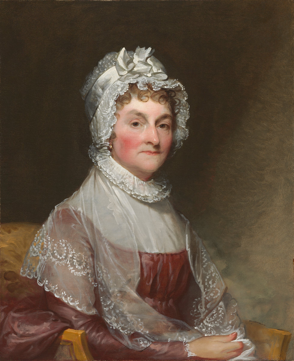 Abigail Smith Adams (Mrs. John Adams), by Gilbert Stuart, ca. 1800-1815. Gift of Mrs. Robert Homans [1954.7.2]. Courtesy National Gallery of Art, Washington, D.C.
