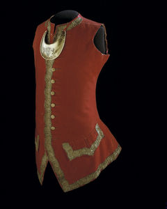 The National Museum of American History owns the waistcoat and gorget Adam Stephen wore while serving as Washington's second-in-command in 1754. NMAH accession number 52984.