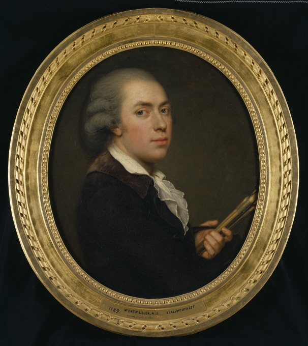Adolf Ulrik Wertmüller - Selfportrait, by Adolf Ulrik Wertmüller, ca. 1790. Gåva 1871 av kapten B. Sparre [NM 1129]. Courtesy Nationalmuseum, Stockholm, Sweden.