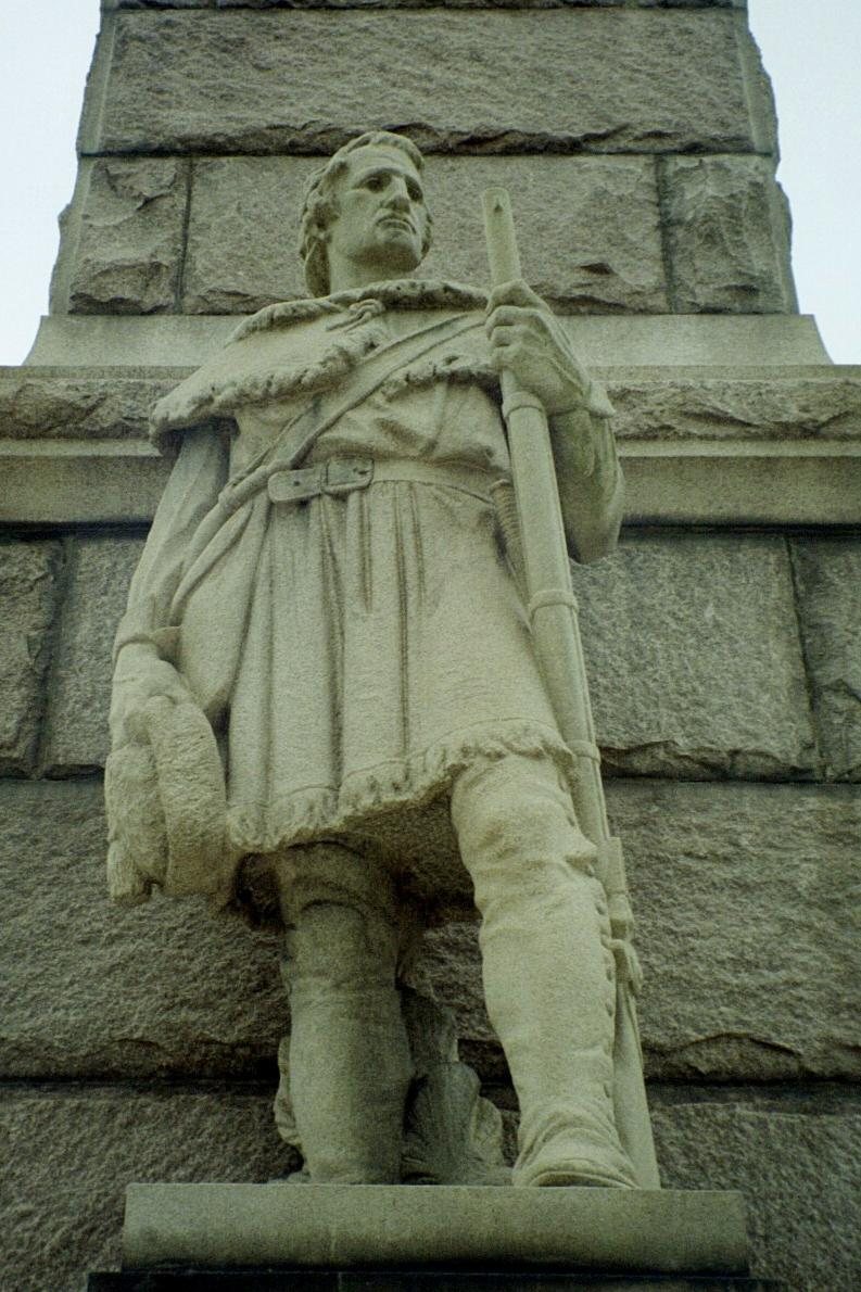 Statue of Andrew Lewis on the Battle of Point Pleasant Monument in Point Pleasant, West Virginia. Courtesy Wikicommons.