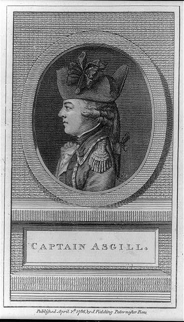 Engraving of Charles Asgill, from John Andrews' History of the War With America, France, Spain, and Holland, published London, 1786. Library of Congress catalogue number 2001697091.
