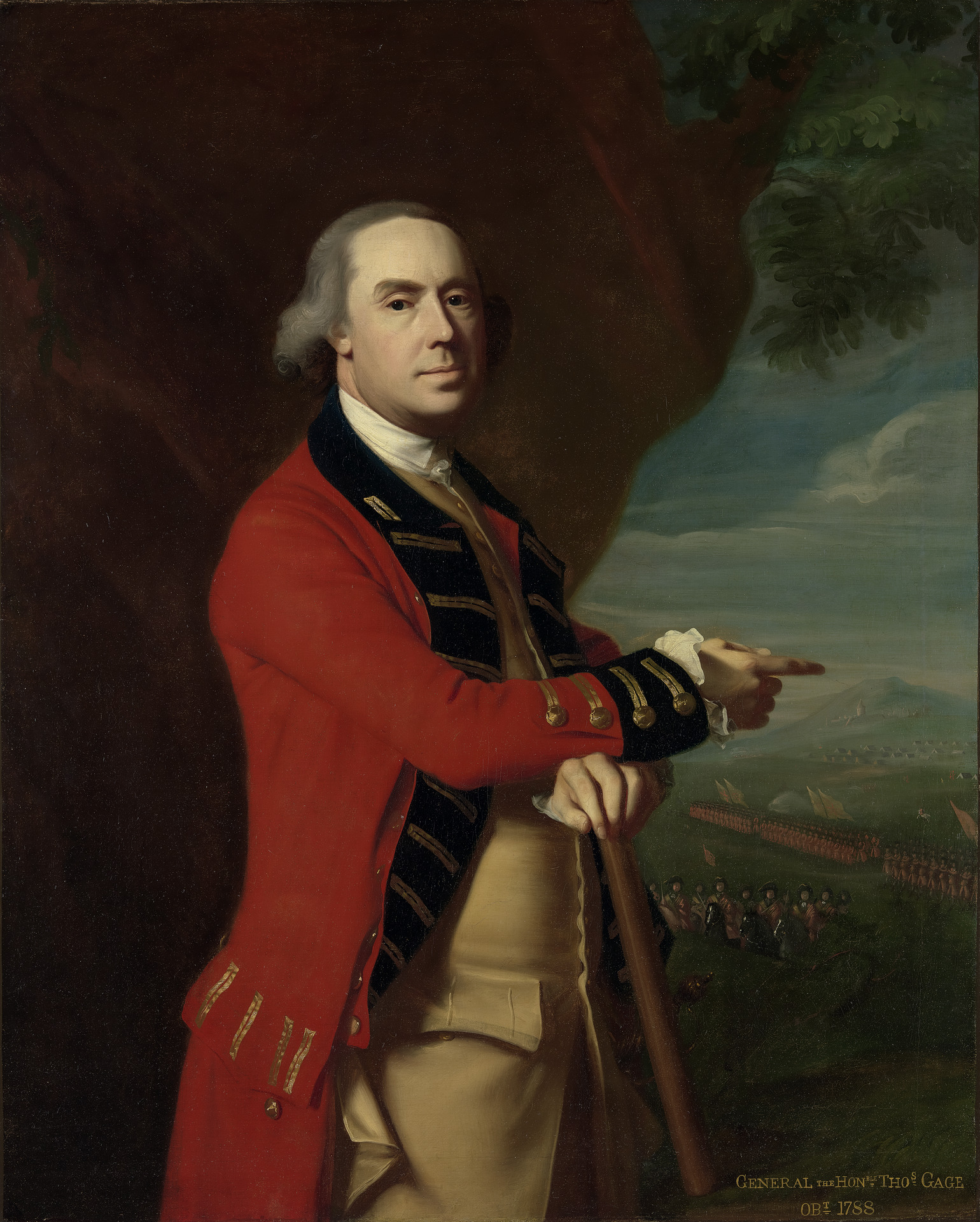 General Thomas Gage, By John Singleton Copley, ca. 1768. Paul Mellon Collection [B1977.14.45]. Courtesy Yale Center for British Art, New Haven, CT.