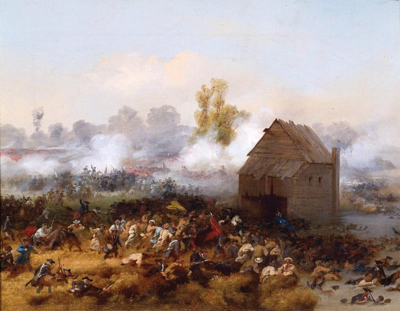 Lord Stirling at the Battle of Long Island. By Alonzo Chappel.
