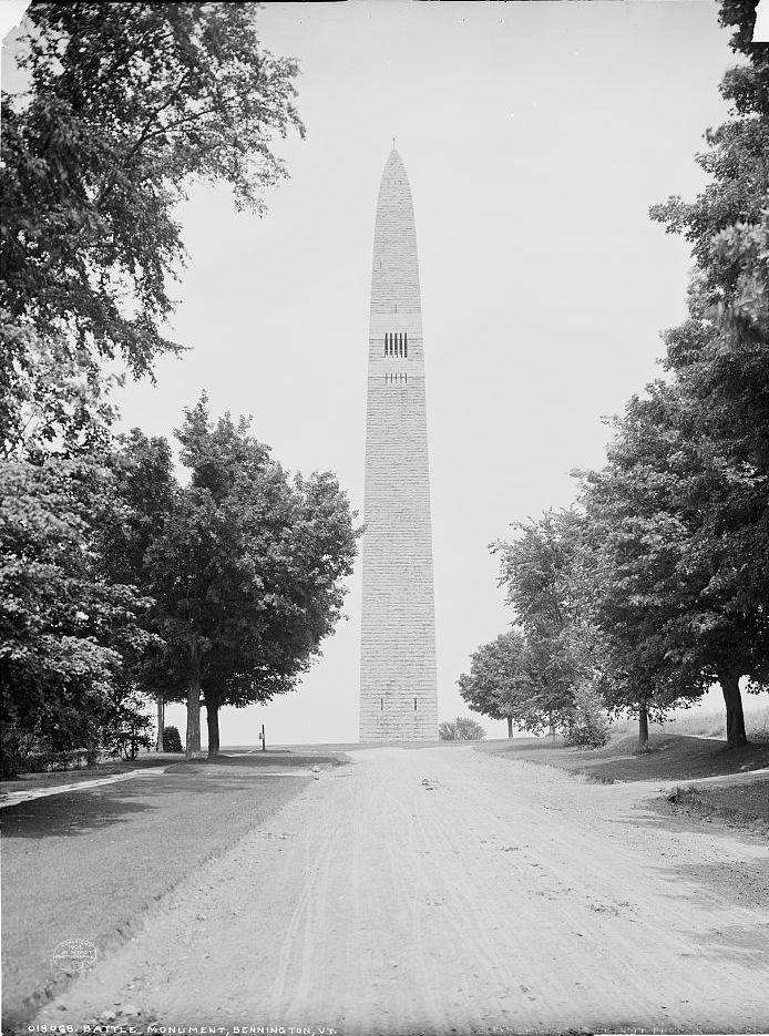 The battle monument at Bennington, VT. Library of Congress LC-D4-18068 [P&P].