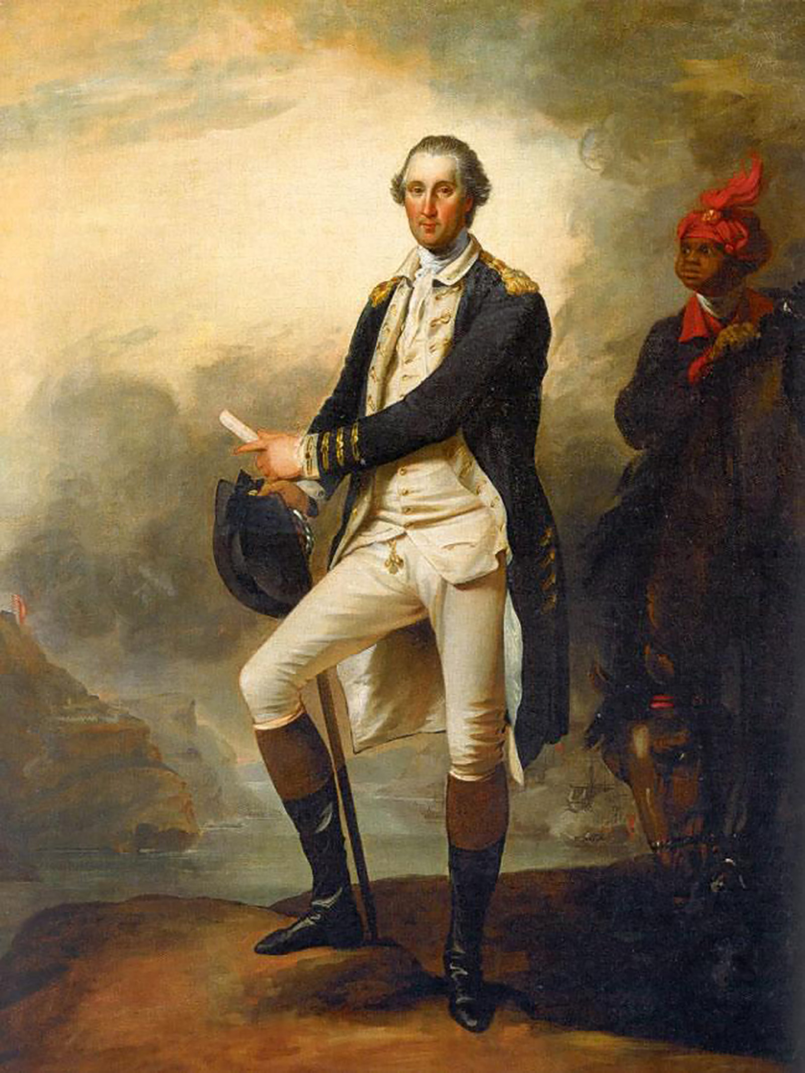 This Trumbull paining also depicts William Lee in stylized dress - George Washington, by John Trumbull, c. 1780. Courtesy The Metropolitan Museum of Art.