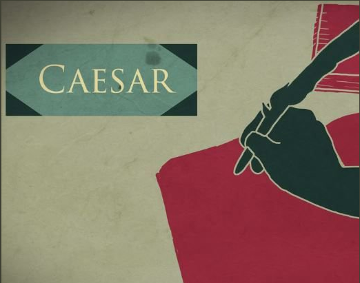 A representation of Caesar's literary and speaking talents, shown in Lives Bound Together, Mount Vernon.