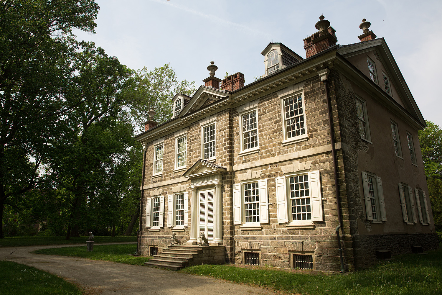 The Chew House (Clivedon) as seen today.  This stately home was at the center of the Battle of Germantown.