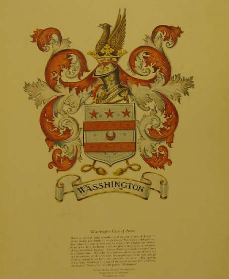 Washington Family Coat-of-Arms Reproduction, United States George Washington Bicentennial Commission, 1932.