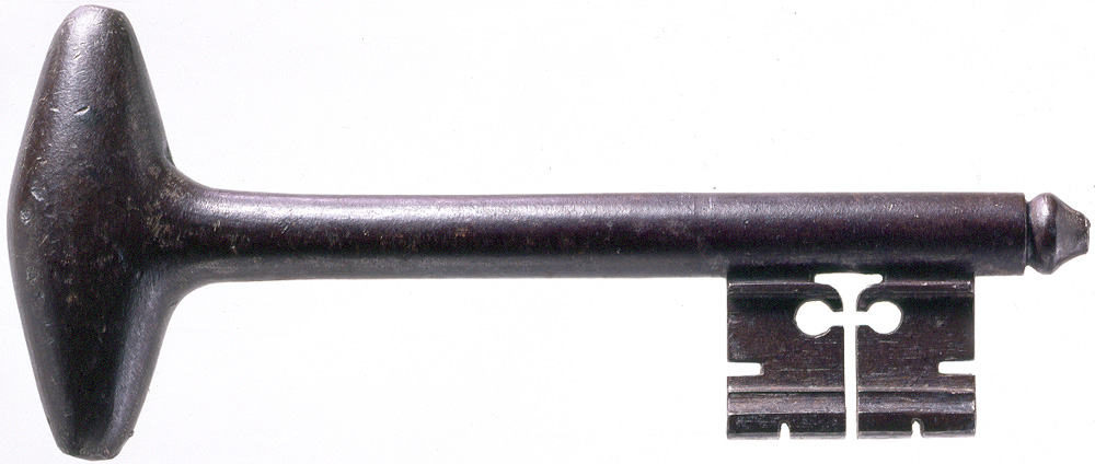 The Key to the Bastille given to George Washington by the Marquis de Lafayette (W-14/A, Mount Vernon Ladies' Association)