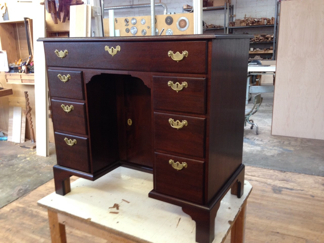 The completed reproduction dressing table. Courtesy of Harrison Higgins, Inc., Richmond, Virginia.