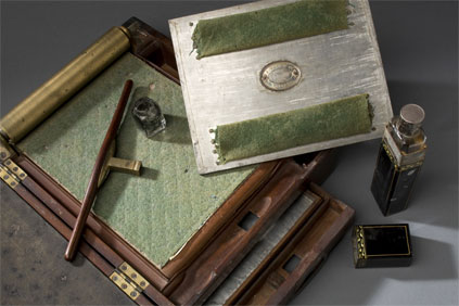 George Washington's copy press at Mount Vernon.  MVLA