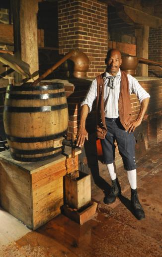 Six of Washington's slaves worked at his distillery  (Russ Flint)