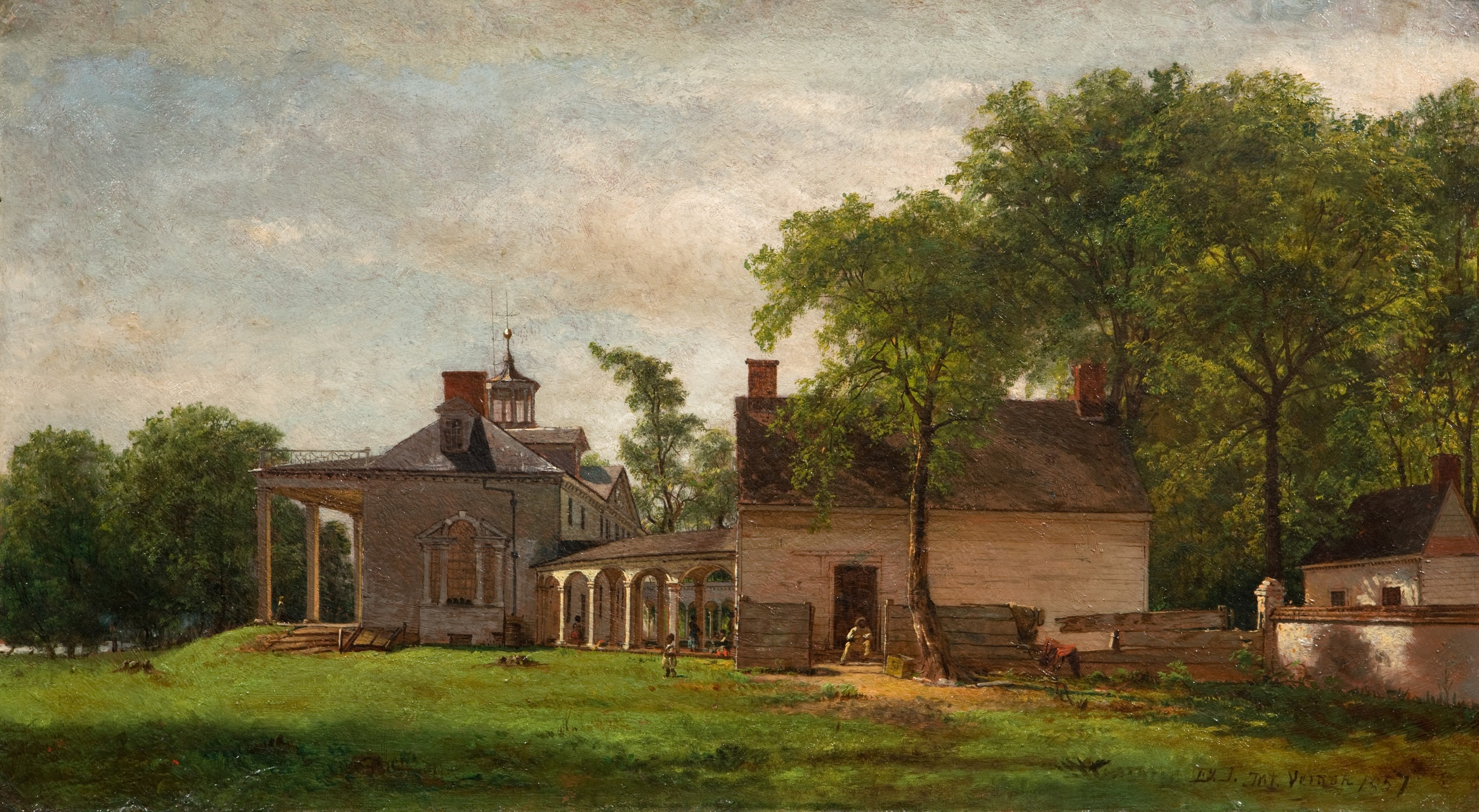Eastman Johnson, The Old Mount Vernon, 1857, oil on board, M-4863, Mount Vernon Ladies' Association, Purchased with funds courtesy of an anonymous donor and the Mount Vernon Licensing Fund, 2009