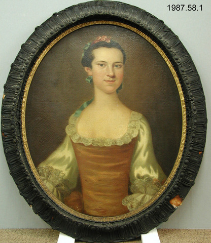Portrait of Elizabeth Willing Powel by John Wollaston, c. 1755-1759. Yale University Art Gallery, 1987.58.1.