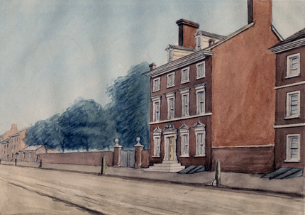The presidential home in Philadelphia (Historical Society of Pennsylvania)