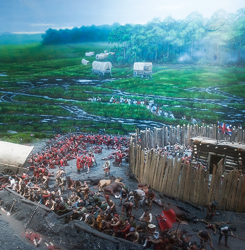 Diorama of Fort Necessity in Mount Vernon's Donald W. Reynolds Education Center.