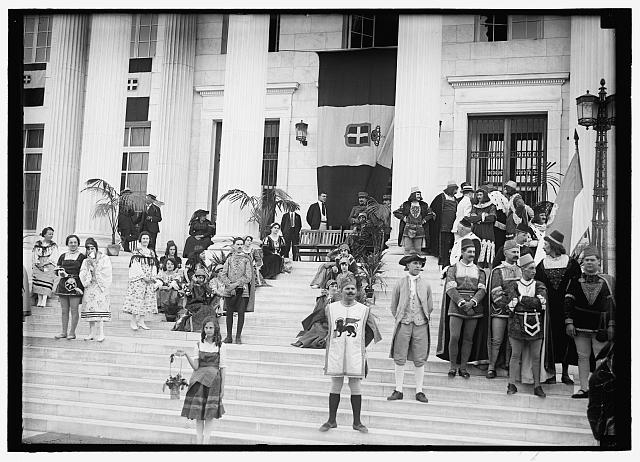 Group in Washington, DC Fourth of July Parade, Harris & Ewing, 1918, Library of Congress.