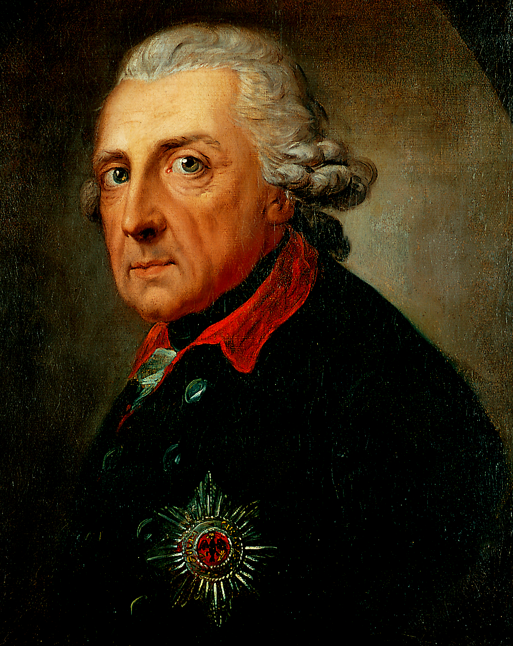 Portrait of Frederick II, by Anton Graff, c. 1781. Courtesy, Charlottenburg Palace.