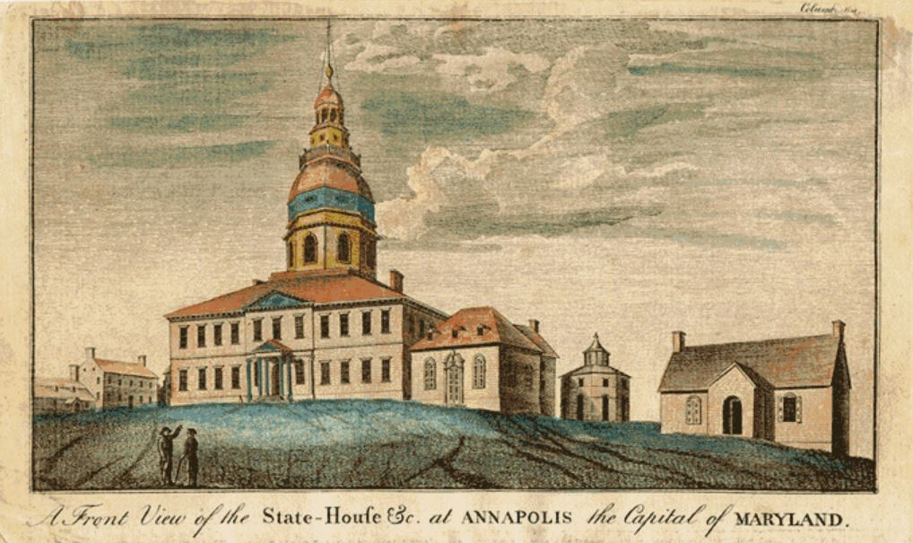 The Annapolis Convention in September 1786 would serve as the final stepping stone to the creation of the Constitution (Maryland.gov)