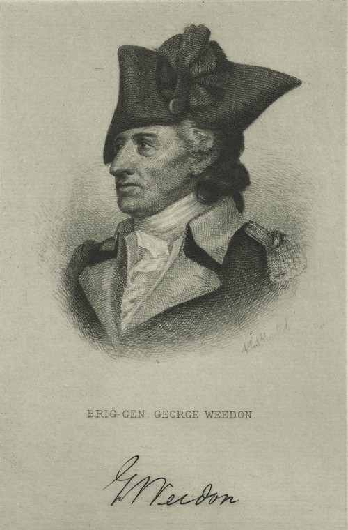 c. 1885 engraving of George Weedon, by Albert Rosenthal. From the New York Public Library, image number EM3803