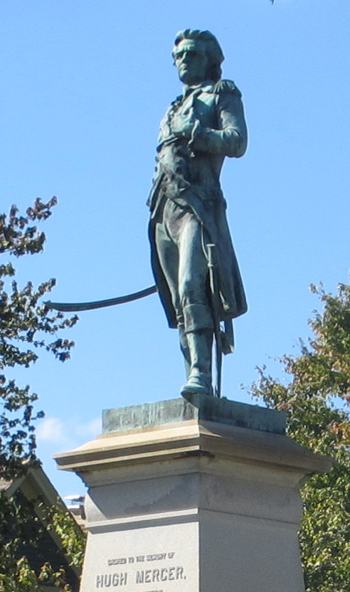 Statue dedicated to Hugh Mercer, Fredericksburg, VA - MVLA