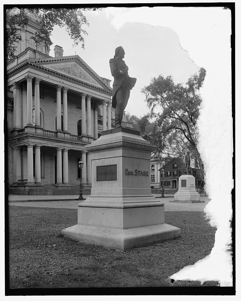 Statue of John Stark at Concord, NH. Library of Congress LC-D4-36221 [P&P].