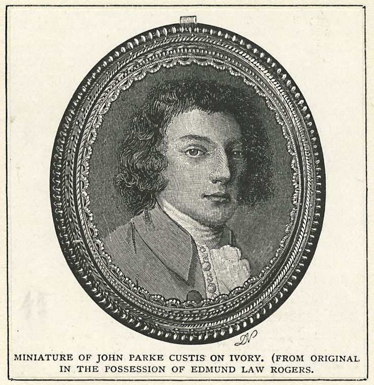 Miniature of John Parke Custis, Image via the New York Public Library.