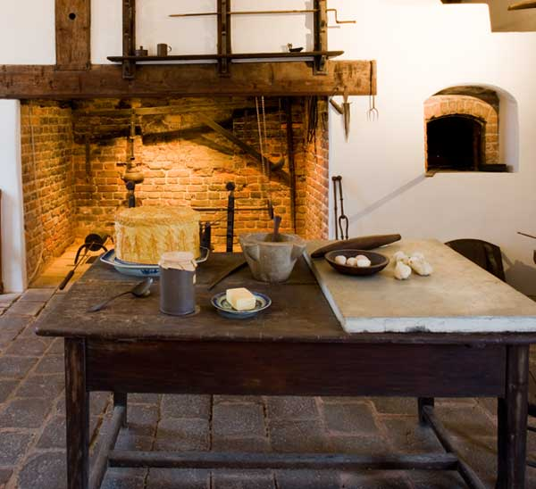 The kitchen at Mount Vernon (MVLA)