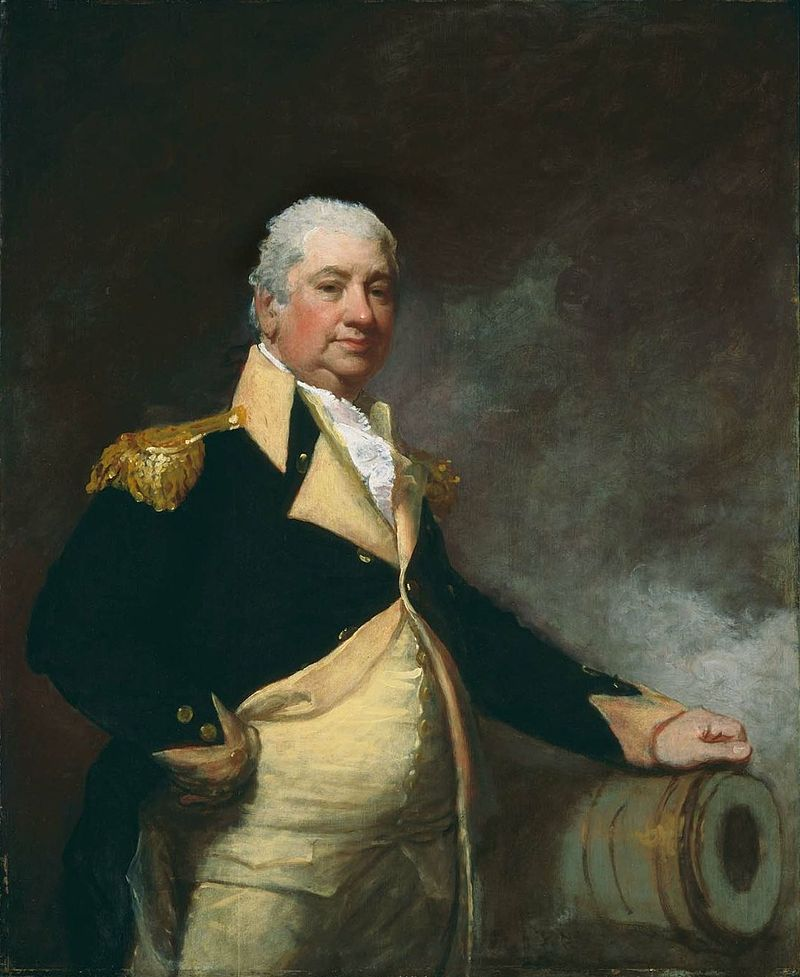 Gilbert Stuart's 1804 painting of Knox celebrates his connection with artillery