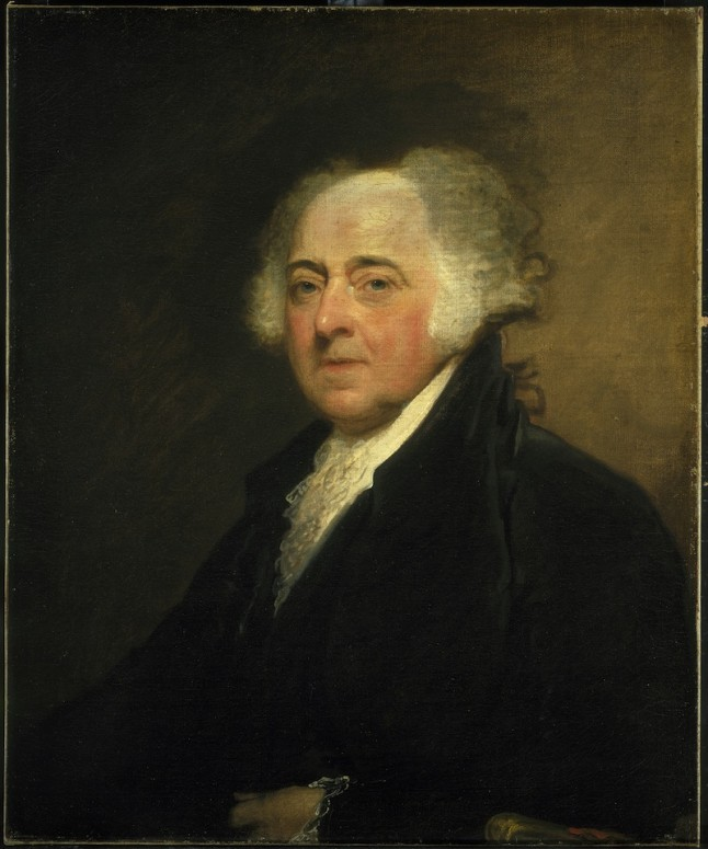President John Adams (1735-1826), 2nd president of the United States, by Asher B. Durand. (Naval Historical Center, Washington, D.C.)