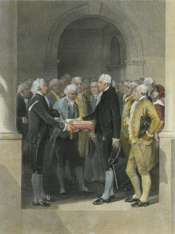 Washington is sworn in as President of the United States (Mount Vernon Ladies' Association)