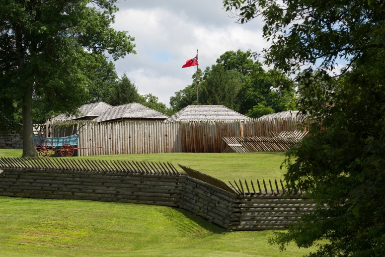 Reproduction of Fort Ligonier.  From this position Gen. Forbes was able to march on Fort Duquesne. (Rob Shenk - MVLA)