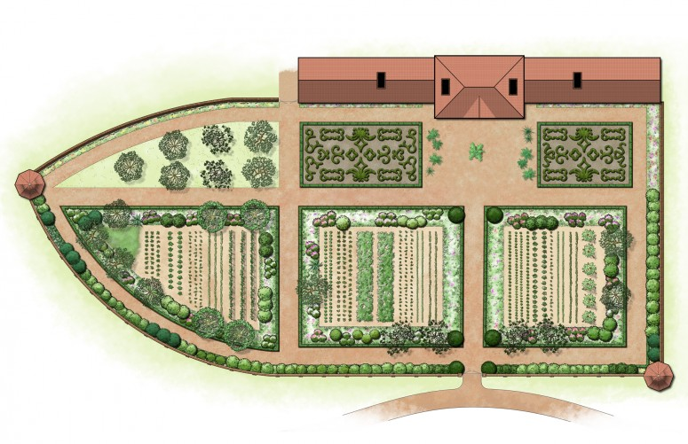 Map of the Upper Garden at Mount Vernon