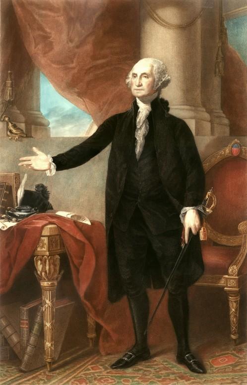 The Landsdowne portrait of President Washington by Gilbert Stuart