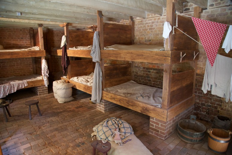 Inside of the Greenhouse slave quarters at Mount Vernon (Rob Shenk - Mount Vernon Ladies' Association)