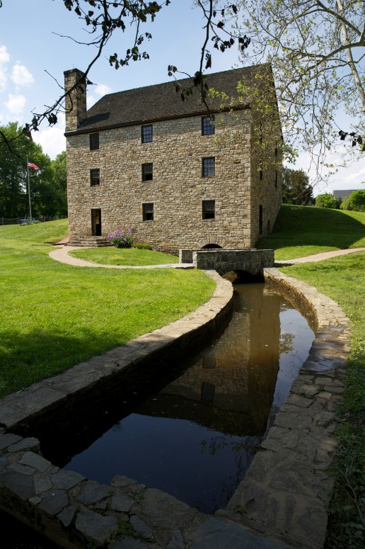 View of George Washington's reconstructed gristmill – one of the great sites to visit at Mount Vernon (Rob Shenk)