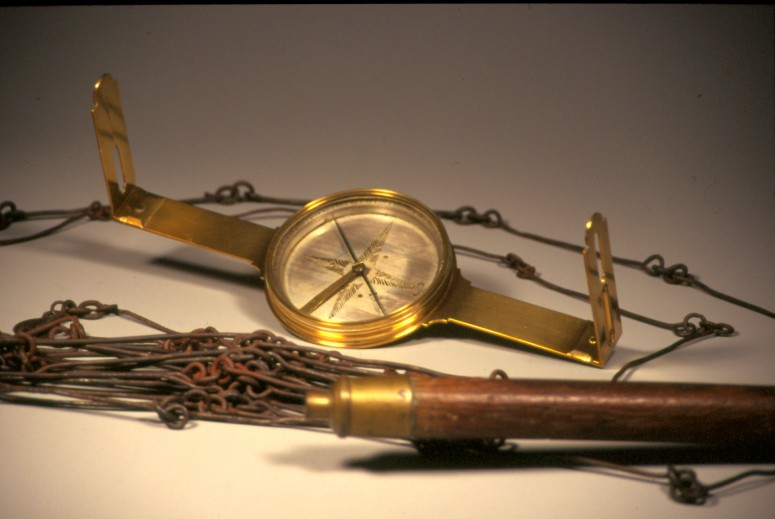 George Washington's surveying gear (Mount Vernon Ladies' Association)